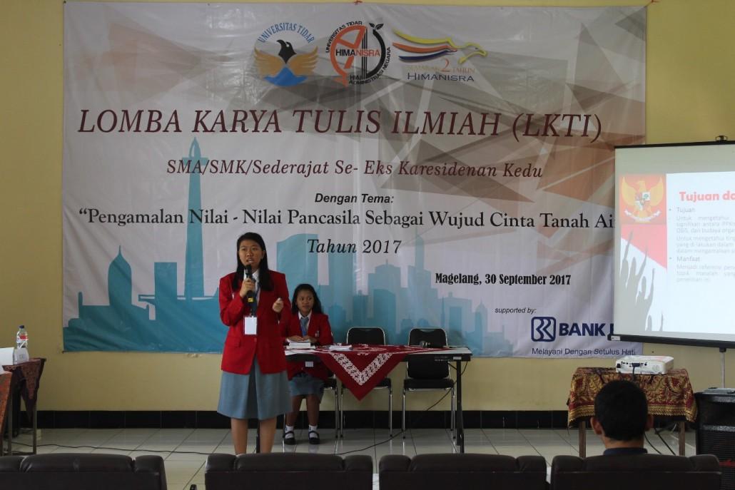 Sesi  pemaparan dari dari SMK PIUS X tang diketuai oleh Anggieta Prihantika Brigita
